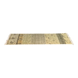 Contemporary Indian Style Cotton Runner - 2′4″ × 8′5″
