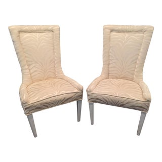 Vintage Zebra Accent Chairs - A Pair