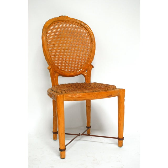 Spanish Carved Faux Bois Chair - Image 2 of 5