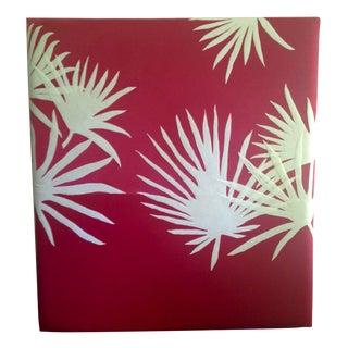 Pink Velvet & Felt Palmettos Headboard