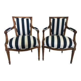 Italian 19th Century Carved Armchairs - A Pair