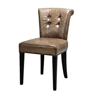 Olive Leather Dining Chair