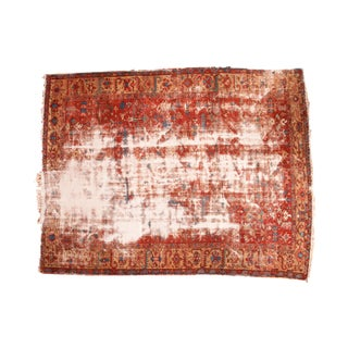 "Antique Distressed Heriz Carpet - 9'7"" x 12'2"""
