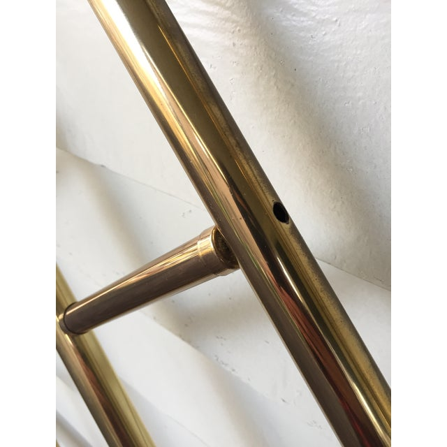Chinese Chippendale Style Brass Queen Bedframe - Image 9 of 11