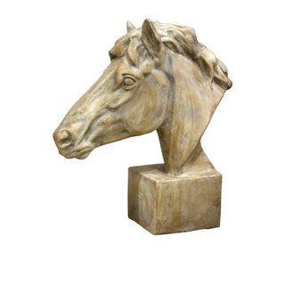 Distressed Finish Plaster Horse Head