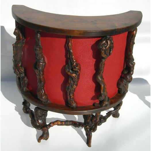 Wacky Burled Root Bar and Stools - Image 2 of 8