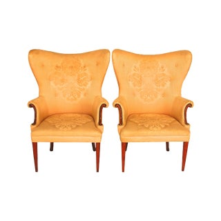 Mid-Century Modern Butterfly Wingback Chairs - 2
