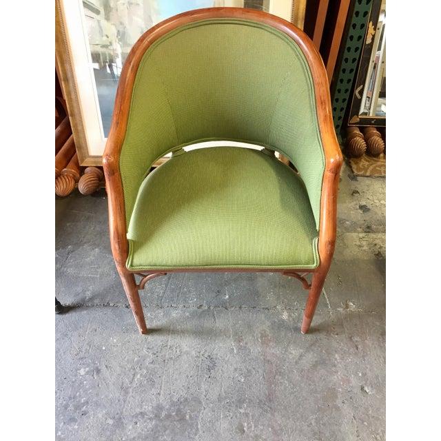 Green Corduroy & Bent Wood Chair - Image 3 of 8