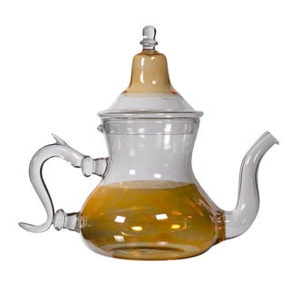 Moroccan Orange Glass Teapot
