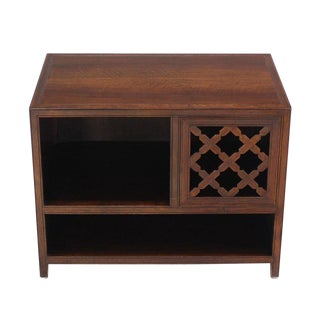 Baker Walnut End Table Stand Accent Side Table.