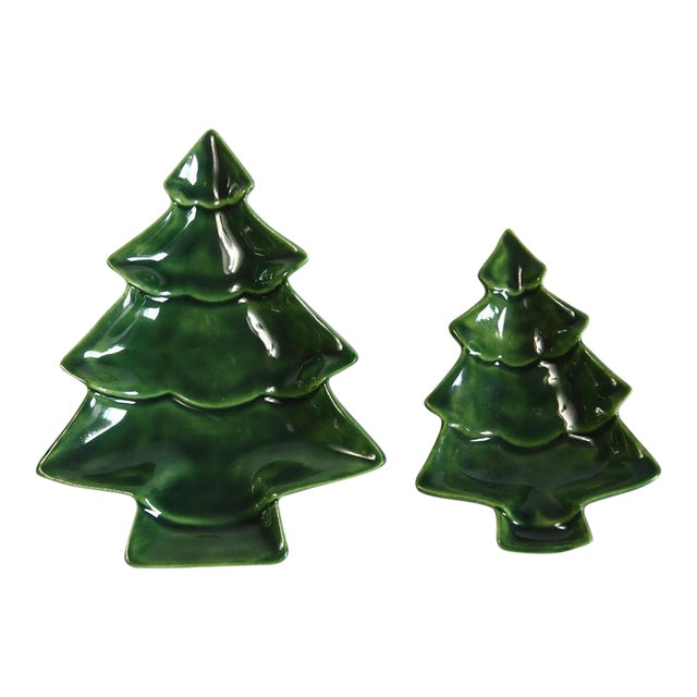 Small Nesting Christmas Trees - A Pair - Image 1 of 4