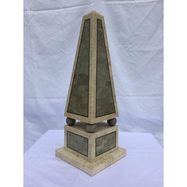 Maitland Smith Tessellated Stone Obelisk - Image 2 of 8