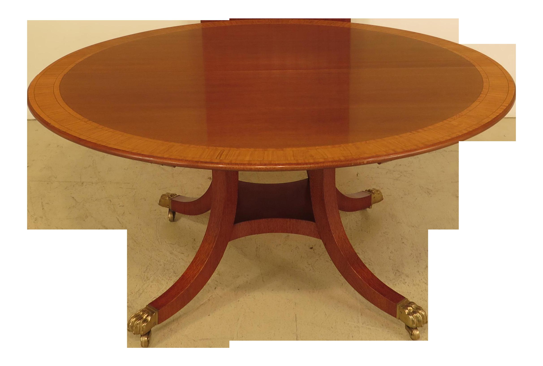 William Tillman Custom Made Round Mahogany Dining Room Table