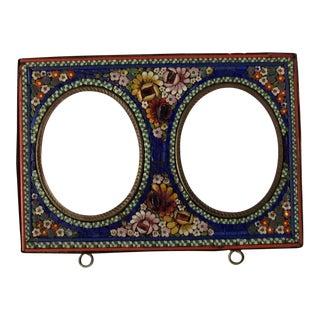 Antique Italian Micro Mosaic Grand Tour Picture Frame
