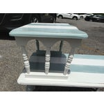 Image of Vintage Painted Two Tier Side Table