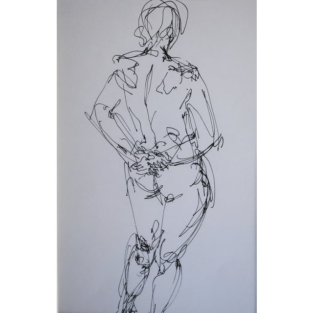 Mid Century Nude Drawing I by Paulina Jones Everitt - Image 3 of 4