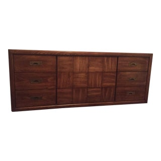 Hollywood Regency Campaign Lowboy Dresser