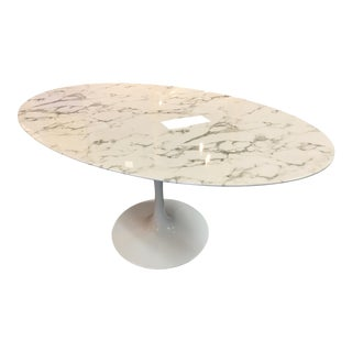 Modway White Marble Dining Table