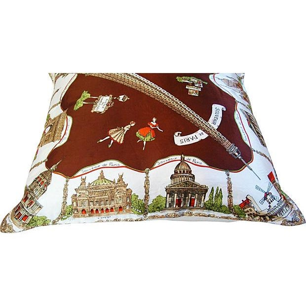 Souvenir de Paris Silk Scarf Pillow - Image 7 of 8