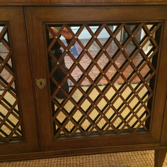 Baker Walnut Mirrored Credenza Console Cabinet - Image 2 of 8