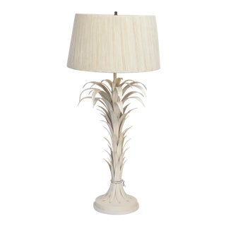 Large Tole Table Lamp with Rope Shade