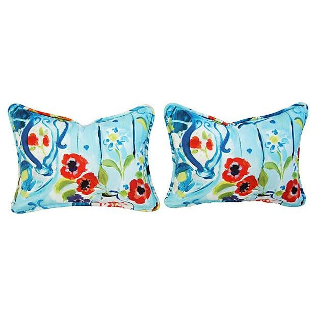 Designer Ronnie Gold Cezanne Style Pillows - Pair - Image 3 of 7