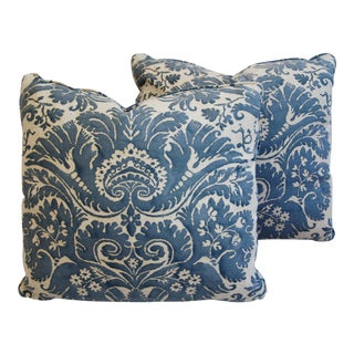 Custom Italian Fortuny Demedici Pillows - A Pair