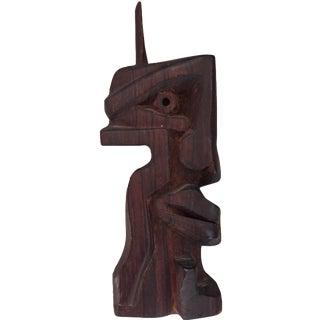 Mid-Century Modern Abstract Wood Sculpture
