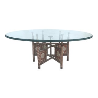 Morrocan Inlaid Bone Coffee Table