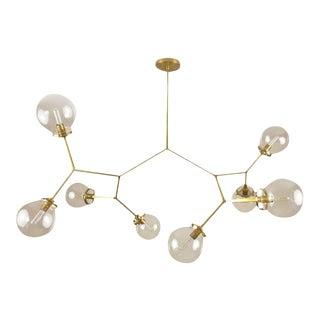 "Blueprint Lighting Brass and Glass Model 520 ""Molecular"" Chandelier"