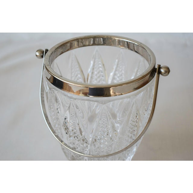 Vintage Crystal and Silver Platted Ice Bucket - Image 3 of 6