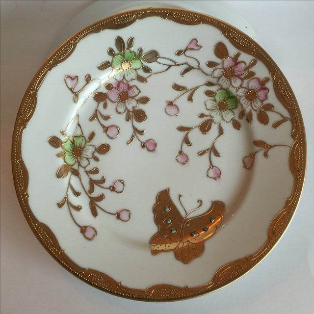 Mid-Century Asian Butterfly Plates - Set of 4 - Image 7 of 10
