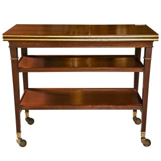 Maison Jansen French Directoire Mahogany Tea Cart