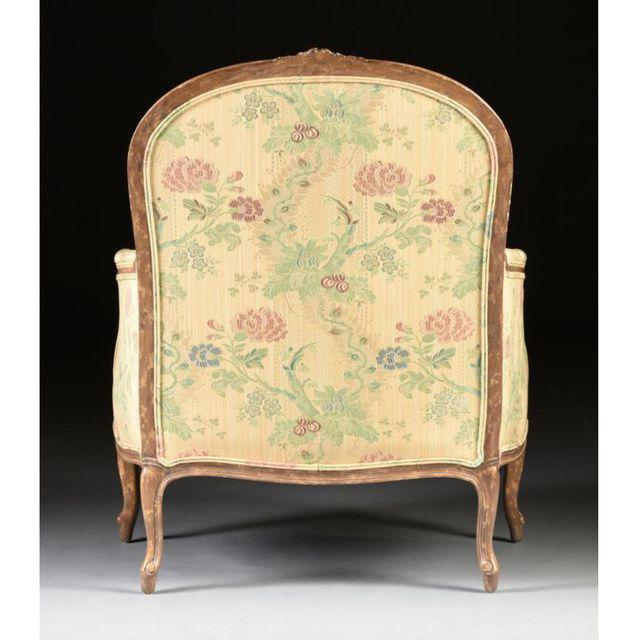 Louis XV Style Bergere & Footstool - Image 4 of 8