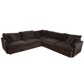 "Crate & Barrel ""Lounge II"" Three-Piece Sectional"
