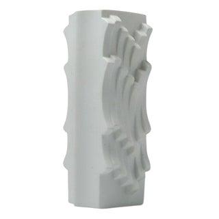 Heinrich Fuchs for Hutschenreuther Matte White Archais Vase