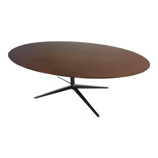 1972 Florence Knoll Walnut Oval Table