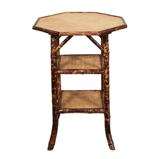 Octagonal top Victorian Bamboo Side table