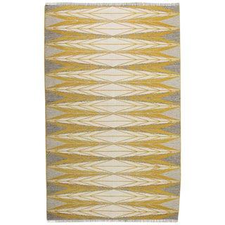 "Vintage Ingrid Dessau ""Sylarna"" Flat-Weave Swedish Carpet"