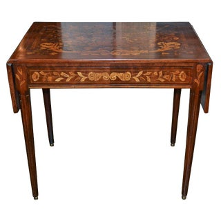 19th C. English Dropleaf Occasional Table