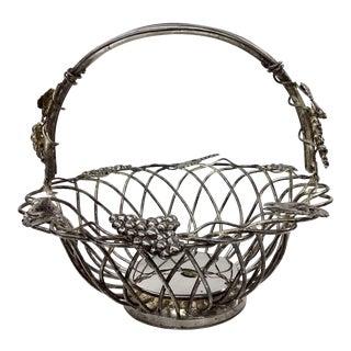 Vintage Godinger Silver Plate Intertwined Basket