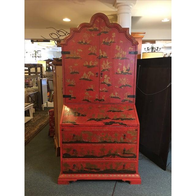 Baker Red Chinoiserie Desk - Image 2 of 11