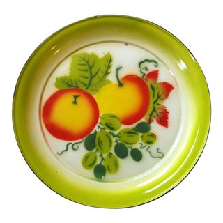 French Country Painted Enamel Platter