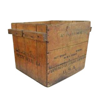 Antique Manchester Biscuit Company Wood Crate Box