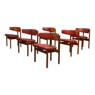 Borge Mogensen set of 8 Dining or Conference chairs