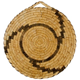Vintage Papago Coiled Basket Plaque