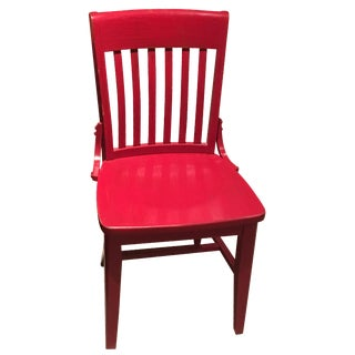 Hand Painted Red Desk Chair