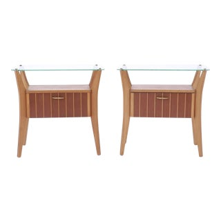 Pair of 1950s Italian Nightstands and Side Tables