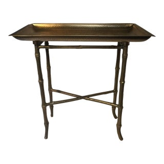 Brass Bamboo Side Table