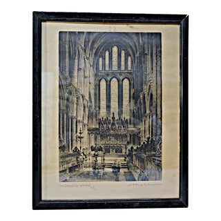 Vintage Framed Cathedral Print by Albany E. Howard